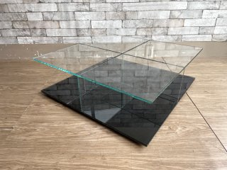 カッシーナ Cassina メックス MEX ローテーブル ガラステーブル 269-01/11 スクエアタイプ ブラック ピエロリッソーニ 定価¥211,200- イクスシー ixc. 取扱 ●