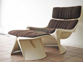 カド CADO メテオ ラウンジチェア Meteor Lounge Chair オットマン付 1960's ビンテージ スティーン・オステルゴー スペースエイジ 希少品 ◇