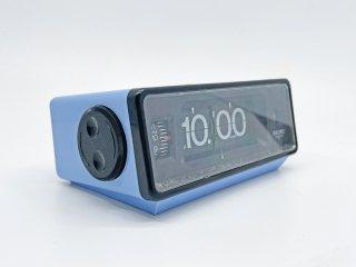セイコー SEIKO クォーツ QUARTZ 目覚まし時計 パタパタ時計 置き時計 ブルー アラーム機能 70's ビンテージ 昭和レトロ 動作OK ●