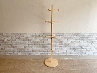 ナチュラルスタイル Natural Style 木製 ポールハンガー コートハンガー H176cm 可動式 シンプル ●