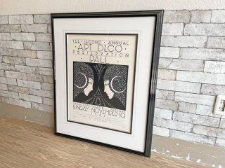 ステファン Stephan ビンテージ リトグラフ ポスター Art Deco Preservation Ball 1985年版 127/150 サイン入り 額装品 希少 ●