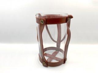 スカーガーデン SKARGAARDEN キャンドル ランタン Candle lantern ガラス×レザーストラップ フラワーベース レッド 北欧雑貨 スウェーデン ◎