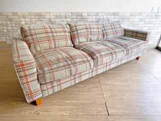 アクメファニチャー ACME Furniture ジェティ フェザー ソファ JETTY feather SOFA 3P オリジナルファブリック AC-08 ライトブルー 定価\271,700- ●