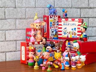 ウォルトディズニープロダクションズ Walt Disney Productions ディズニーまんがこけし 8箱26体 民芸 ジャパンビンテージ 60's ■