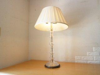 フランス ビンテージ テーブルランプ クリスタル クラッシック スタイル B ◎