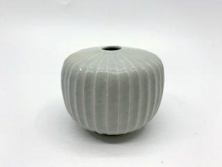 中本 純也 一輪挿し 花器 花瓶 直径9cm 陶芸家 現代作家 ●