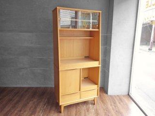 ウニコ unico シグネ SIGNE キッチンボード W80 オーク材 ナチュラル 廃番モデル 食器棚 カップボード 北欧スタイル 現状品 ♪
