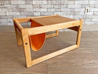マルニ木工 maruni メープル材 マガジンラック付き サイドテーブル ナチュラル ビンテージ Vintage オールドマルニ ●