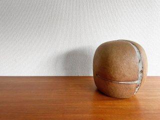 Nobuo Watanabe 陶製 オブジェ フラワーベース H28cm 作家物 B ●