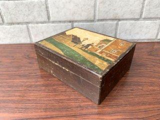 ビンテージ VIntage 木製 小物入れ アクセサリーケース ジュエリーボックス インテリア ■