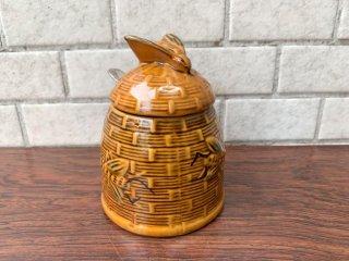 ビンテージ Vintage ハニーポット 蜂蜜 はちみつ 蜂 スプーン付 アンティーク 50's ■