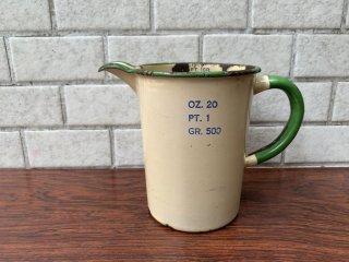 USビンテージ US Vintage メジャーカップ ピッチャー 水差し 一輪挿し ホーロー製 アンティーク ■