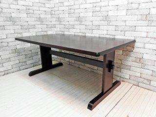北海道民芸家具 樺無垢材 リビングテーブル ダイニングテーブル 座卓 H63cm 民芸家具 和家具 ●