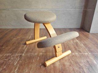 リボ Rybo バランスイージー Balans EASY デスクチェア 学習椅子 北欧 ノルウェー グレー ♪