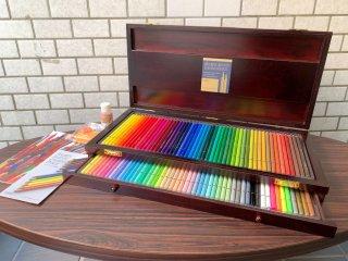 ホルベイン holbein アーチスト色鉛筆 100色セット 木函入 ARTISTS COLORED PENCIL 100 colors 画材 絵画用品 美術 美品 未使用 箱付 ■