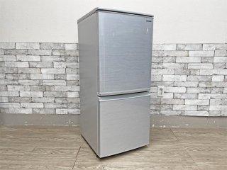 シャープ SHARP 2ドア ノンフロン冷凍冷蔵庫 SJ-D14F-S シルバー系 つけかえどっちもドア ボトムフリーザー 2020年製 137L ●