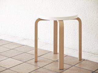 アルテック Artek スツールE60 stool E60 パイミオ 4本脚 80周年記念モデル ホワイトラッカー アルヴァ・アアルト 北欧家具 ◇