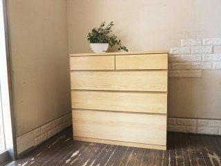 無印良品 MUJI 木製 チェスト 4段 オーク材 ナチュラル 現行品 ◎