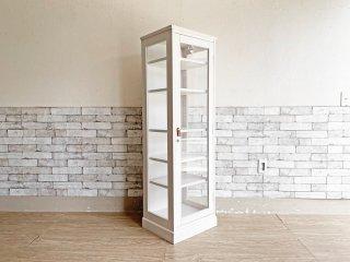 モモナチュラル Momo Natural ココホワイト COCO-WHITE コレクションケース COLLECTION 145 ガラスショーケース ホワイトペイント 廃番 ●