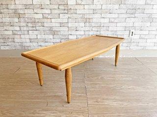 ジャーナルスタンダードファニチャー journal standard Furniture アビー ABBEY コーヒーテーブル COFFEE TABLE アッシュ材 W130cm 廃番 ●
