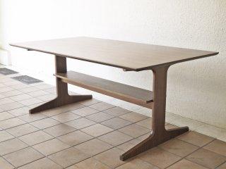 無印良品 MUJI リビングでもダイニングでもつかえる ダイニングテーブル ウォールナット材 W150cm ナチュラル シンプルデザイン 定価¥54,900- ◇