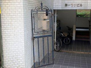フランスアンティーク France Antique アパルトマン エレベータードア アイアン シャビーシック 店舗什器 ■