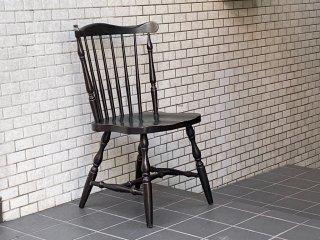 ジャパンビンテージ Japan Vintage ウィンザーチェア ブラック 飾り棚 花台 ランプテーブル 古家具 ■
