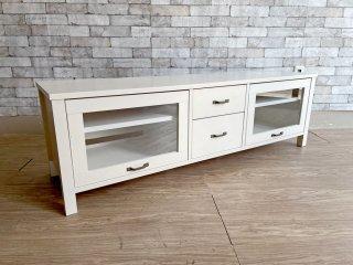 モモナチュラル Momo Natural シエル CIELE AVボード TVボード W150cm ホワイト ●