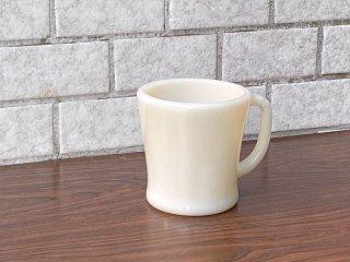 ファイヤーキング FIRE KING マグカップ Dハンドル ホワイト 50-60 ミルクガラス アメリカ ■