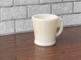 ファイヤーキング FIRE KING マグカップ Dハンドル ホワイト 60-76 ミルクガラス アメリカ ■