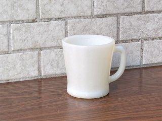 アンカーホッキング ANCHOR HOCKING ファイヤーキング FIRE KING マグカップ Dハンドル ホワイト ミルクガラス アメリカ ■