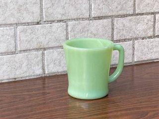 ファイヤーキング FIRE KING マグカップ Dハンドル ジェダイ Jadeite ミルクガラス アメリカ ■