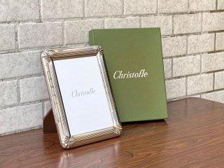 クリストフル Christofle フォトフレーム 写真立て 卓上 シルバー 銀 箱付 美品 フランス ■