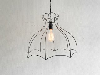 ビンテージスタイル Vintage Style ワイヤーペンダントライト Φ41cm 吊り下げ照明 インダストリアル 工業系 ●
