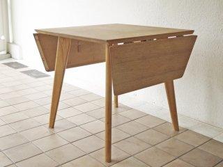ビンテージスタイル Vintage Style オーク材 バタフライテーブル ダイニングテーブル ワークデスク W138cm ◇