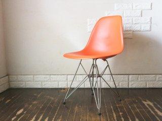ヴィトラ vitra サイド シェルチェア ポリプロピレン製 オレンジ エッフェルベース C&R イームズ Eames ミッドセンチュリー  ◎