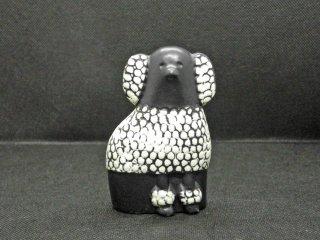 リサラーソン Lisa Larson ミニケンネル MINI KENNEL プードル Poodle ブラック&ホワイト・レフト オブジェ 置物 スウェーデン 北欧雑貨 ♪
