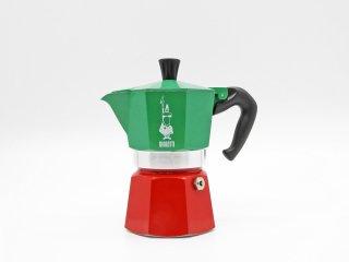 ビアレッティ BIALETTI モカエキスプレス MOKA EXPRESS ITALIA イタリアンカラー グリーン×レッド 3cup用 エスプレッソメーカー イタリア ●