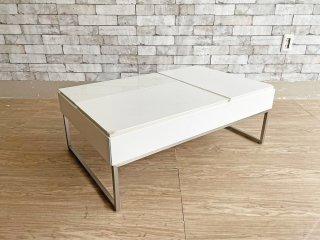ボーコンセプト Bo Concept シヴァ Chiva コーヒーテーブル リフトアップテーブル ホワイト 旧オッカ Occa モダンデザイン 現状品 ●
