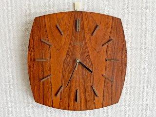 キンツレ KIENZLE 木製 掛時計 ウォールクロック ブラウン 30×30cm 電池式 ビンテージ Vintage ドイツ ●