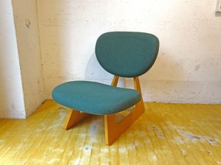 天童木工 TENDO 低座椅子 ローチェア 座椅子 長大作 デザイン ナラ柾目 グリーン系張地 和モダン★