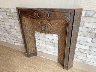 ヨーロピアンクラシカル マントルピース 暖炉枠 アンティーク調 天使の彫刻 PARIS 鋳物 ●