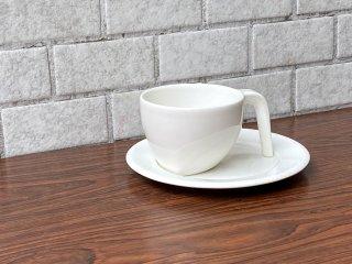 イッタラ iittala エゴ Ego コーヒー カップ&ソーサー C&S ホワイト ステファン・リンドフォース 北欧食器 廃番 ■