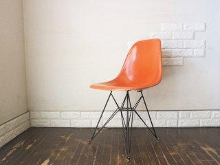 ハーマンミラー Herman Miller サイド シェルチェア 2nd ビンテージ FRP製 オレンジ エッフェルベース C&R イームズ ◎