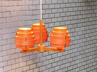 ヤマギワ yamagiwa ヤコブソンランプ JAKOBSSON LAMP 3灯ペンダントライト パイン材  ハンス・アウネ・ヤコブソン 北欧照明 スウェーデン ■