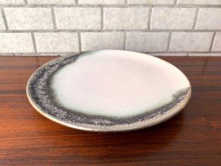 福村龍太 平皿 プレート 直径23.5cm 日月窯 陶芸作家 現代作家 B 現状品 ■
