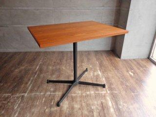 グリニッチ オリジナル ファニチャー greeniche カフェテーブル Cafe Table 800×600 チーク材 オールブラック Xレッグ 定価42,900円 ♪