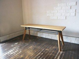 ヒロファニチャー hiro furniture bench003 ベンチ Mサイズ オーク材 アイアン 定価67.100円 ◎