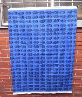 マリメッコ/marimekko VIHKIRUUSU ファブリック 137x105 Xmas限定ブルー