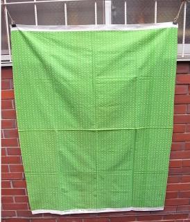 マリメッコ/marimekko ビンテージファブリック muija 130x109 黄緑